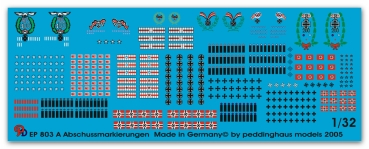 Peddinghaus 1/32 0803a  German and US aircraft kill markings overseas version complete swastica
