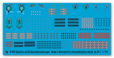 Peddinghaus-Decals 1/72 0805 German and US aircraft kill markings overseas version complete swastica