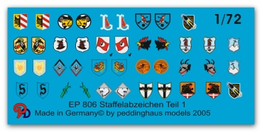 Peddinghaus-Decals 1/72 0806 German Luftwaffe fighter  different unit signs No 1