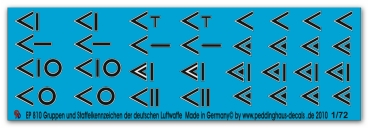 Peddinghaus-Decals 1/72 0810 german airforce figther group and Staffel markings
