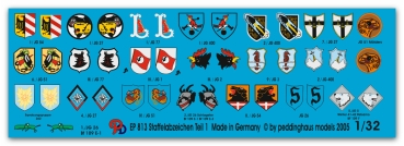 Peddinghaus 1/32 0813  german Luftwaffe fighter different unit signs No 1