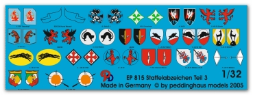 Peddinghaus 1/32 0815  german Luftwaffe fighter different unit signs No 3