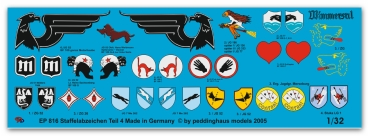 Peddinghaus 1/32 0816  german Luftwaffe fighter different unit signs No 4