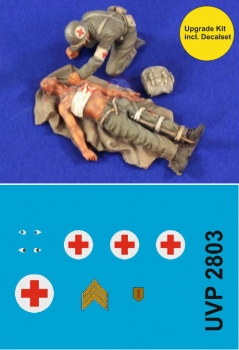 Verlinden VPU 2803 Wounded & Medic US WWII incl Decalset