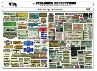 Verlinden VP 2216 Road Signs & Military Signs WWII