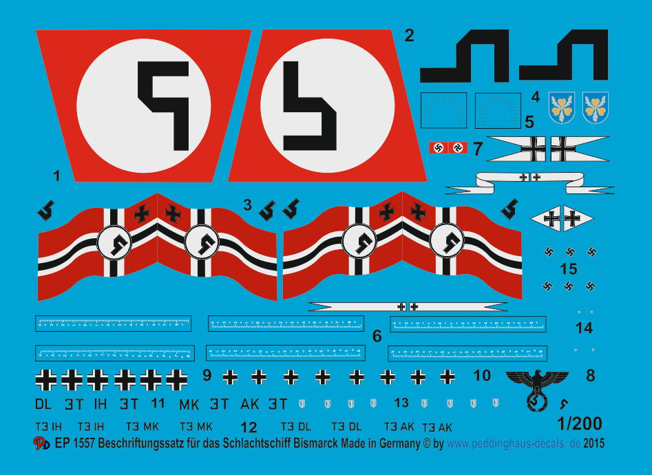 Peddinghaus-Decals 1//72 0753 Turmnummern rot mit weißer Outline