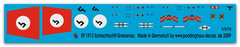 Peddinghaus  1//700 3153 Schlachtschiff Gneisenau