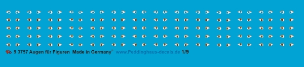 Peddinghaus-Decals 1:9 3757 Eyes for figures