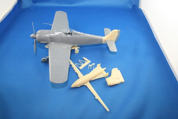 Nordwind 1/48 005 Conversion for Eudard FW 190 a bigger fin and Hagelkorn gliderbomb