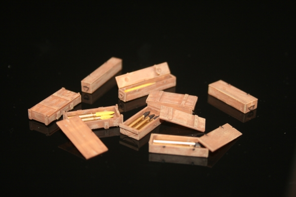 Nordwind 1/48 017 misc. german wooden ammo boxes