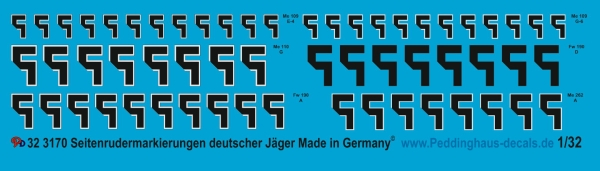 Peddinghaus 1/32 3170 Swasticas for german fighter planes