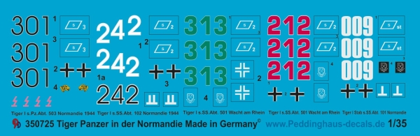 Peddinghaus 1/35 0725 Tiger markings in the Normandy