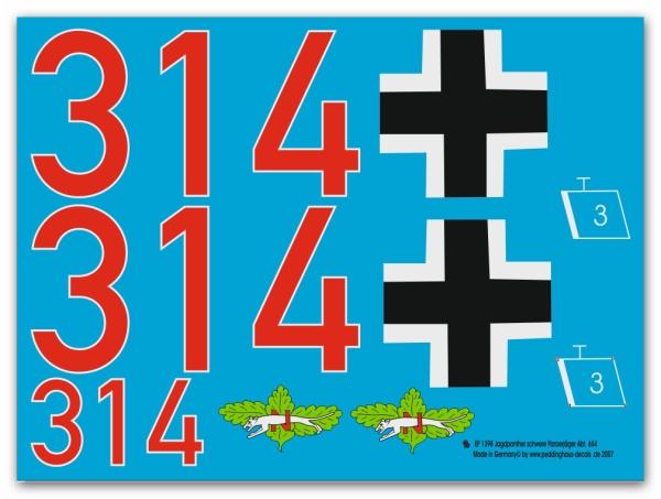 Peddinghaus  1//6 1589 Innenbeschriftungen für das Sd Kfz 251