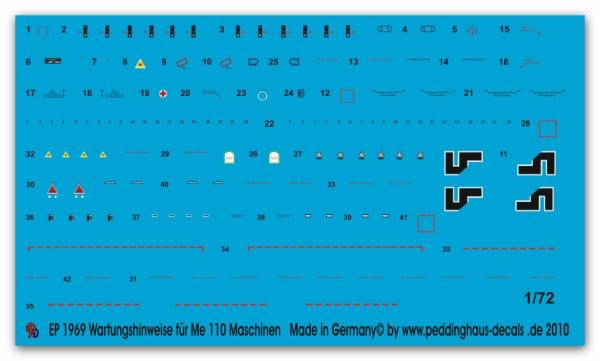 1//72 ep 1969 Wartungshinweise für Me 110 Maschinen