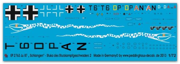 Peddinghaus-Decals 1//72 0862 Sturzkampfbomber JU 87 Standartbogen