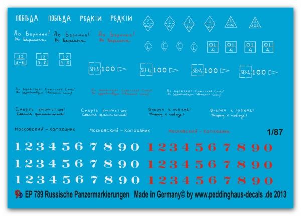 Peddinghaus  1//87 0789 Russische Fahrzeugmarkierungen