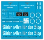 Peddinghaus 1/35 1858 markings for the Br 58 of the german Reichsbahn