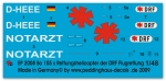 Peddinghaus-Decals 1/48 2008 Bo 105 s Rescue helicopter of the DRF Flugrettung